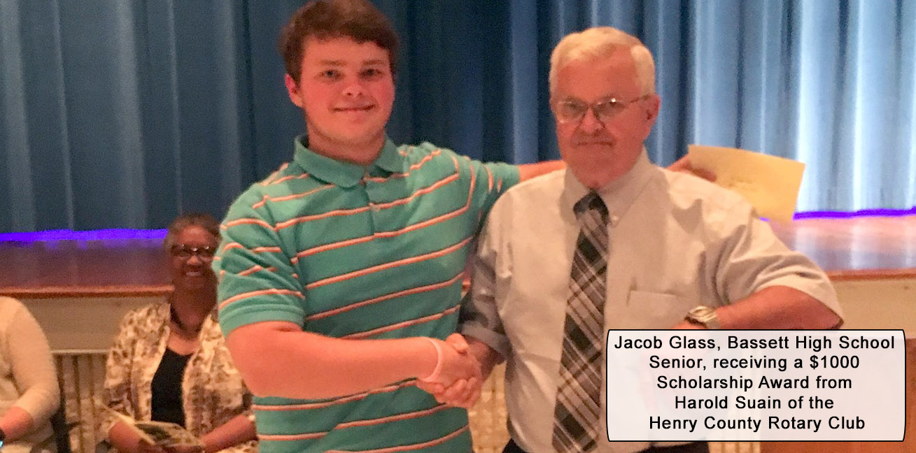 Jacob Glass presented $1000 scholarship